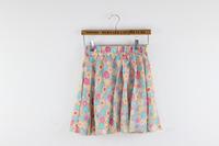 Korean Style women skirts summer 2014 Chiffon Skirt Short Saias Femininas Mini Skirt Cute Saia Curta 103