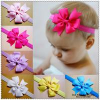 Girls Lace Headband Baby Chiffon Flower Headbands Children Kids Hair Accessories Baby's Gift,FS240+Free Shipping