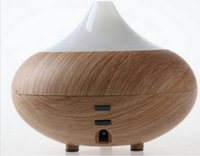 Hot Sale ! Ultrasonic Humidifier Light/Dark Wood grain Aroma Air Aromatherapy Diffuser Mist Purifier Free Shipping !