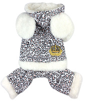 New Arrival Four Legs Leopard Cotton  pet dogs coat with two Ear decor Free shipping dogs clothes