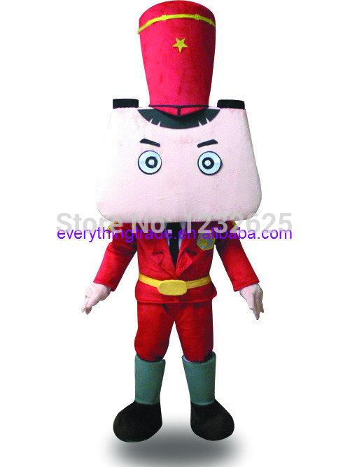 High quality Cartoon National guard of honor Mascot Costume Adult cartoon Halloween Mascot Costume terms head cardboard(China (Mainland))