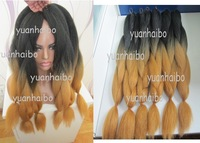 "Stock!! UPS or DHL Fast &Free Shipping 20"" folded ombre kanekalon cheap synthetic jumbo braid"
