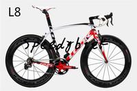 Complete Bike! 2014 RFM009 LOOK 695 L8 road bike frame complete bike bicycle frame road bike handlebar 700C T1000 free shipping