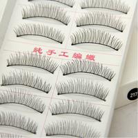 Cheap 30pairs Black False Eyelashes 60pcs Handmde False Eyelash Makeup Tool Freeshipping 217