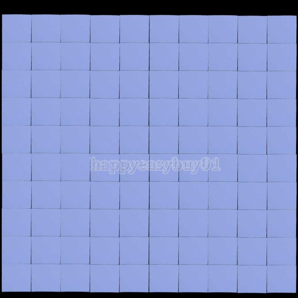 100pcs 10x10x1mm silicone almofada térmica do dissipador de calor condutor