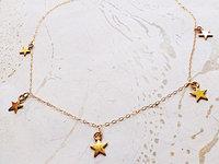 Venus FTSE necklace, star necklace simple, hierarchical star drape necklace,