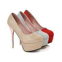 2015 новые натуральная кожа большой размер 34-42 черный красный абрикос красный снизу открыть ноги сексуальные высокие каблуки платформы женщин сандал pumpsd817