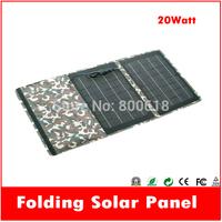 jane 20W 18V / 5V Portable Fold Solar Panel charging for Laptops / Mobile Phones