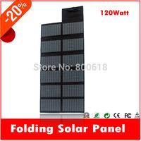 jane 120W Portable Folding Solar Panel / Solar Charger Bag for Laptops / Mobile Phones, 18V / 5V