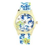 New Women Lady Girl Dress Watch Fashion Flower Pattern Silicone Quartz Watches Factory Sale 200pcs/lot