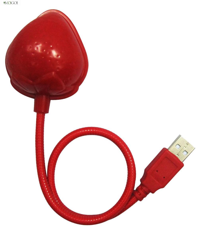 Mogoi Red Energy Saving Strawberry Shaped Flexible Tube 10 LED USB Keyboard Light Lamp for Laptop Notebook(China (Mainland))