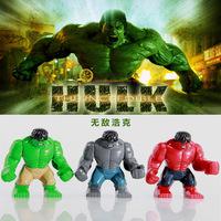 Decool Bricks Building Blocks Super Heroes avengers action figures 7cm Big RED HULD GREY HULK Children toys