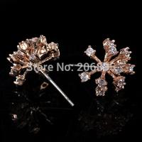 """Snow"" Earrings Design AAA+ Colorful Swiss Cubic Zirconia Flower Earrings For Women For Party/Weddings"