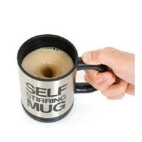 Automatic coffee mixing cup/mug bluw stainless steel self stirring electic coffee mug 350ml