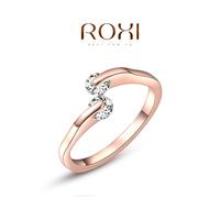 2014 Anel Jewelry Roxi Christmas Gift Classic Genuine Austrian Crystals Fashion Kiss Fish Ring 100% Man-made Big Off