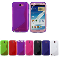 Note2 Case S Line Soft Gel Rubber Celular Phone Case Cover For Samsung Galaxy Note 2 N7100 Skin Shell Free Shipping