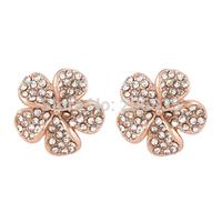 New 18K Gold Plating Five Leaf Clover Earrings Flower Earrings For Women For Party