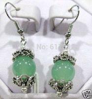 Charming Tibet Silver Jade Fashion Dangle earring Pair & Always a bonus added