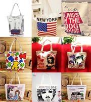New 2014 Free Shipping Women's Handbag Big Canvas Bag Handbag Women's Handbag Shoulder Bag Fashion Shopping Bag Canvas Bag AK281