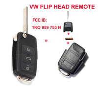KEYLESS FLIP Remote Key Control FOB For VW 3 Button 1K0 959 753 N 1KO959753N 433MhZ