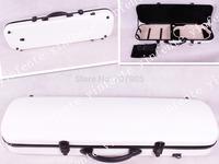 white     color    4/4 Violin case Glass Fiber Soft Imitate Leather Pink White Black #001