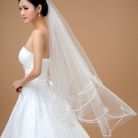 2014 Promotion Wedding Veils Long Vestido De Renda Wholesale Bridal 1.5 M White Veil Yarn Suzhou Factory Direct Spot Thick Line