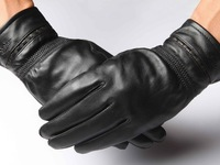 new arrival men patchwork  sheep skin warm gloves,free shipping winter thermal fashion driving gloves in black  2013101