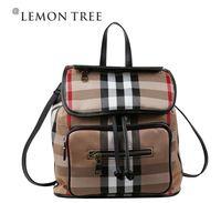 NEW 2014 school bags women backpack genuine leather bags backpacks women bag vintage plaid fashion bolsas femininas bolsa