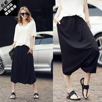 2014 casual short-sleeve chiffon plus size clothing set summer fashion loose fashion twinset
