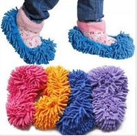 Drop Shipping 1 pcs Non Slip Cover Set Clean Clothe Cleaning Floor Chenille Microfiber Shoe Overshoes Floorcloth Wiping