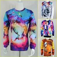 New men Women's space michaeljackson/triangle star 3D print Pullover Sexy Galaxy simple Sweatshirts Hoodies crop Top
