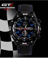 GT New fashion Luxury Brand Men Mechanical Hand Wind Leather Strap Watch Wristwatches Stainless Steel Skeleton Men's Sport Watch
