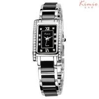KIMIO Brand Women Dress Watches,Bracelet Ceramic rhinestone watches quartz Women Wristwatches,12-month Guarantee