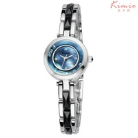 KIMIO Brand Women Bracelet Ceramic rhinestone watches with MIYOTA 2035 Japan Movt,3ATM Water Resistant,12-month Guarantee