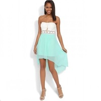 Fashion Chiffon Bohemia Long Beach Strapless Dress Summer Casual Beach Dress