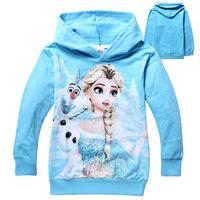 Frozen Children Hoodies Girls Cotton Long Sleeve Cartoon Hoodies & Sweatshirts Elsa Princess Kids Boys Sweater Imported Clothing