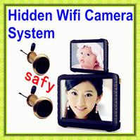 "Free Shipping!Hidden Mini Wifi Camera,Wireless Door Peephole Camera,5"" HD Monitor 800*480 Mini DVR+Mini Camera ,Motion Detection"