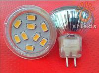 MR11 GU4 led spotlight 12V 4W 9x5730SMD 400-430LM 2700-3000K Warm White Light Spot LED Bulb