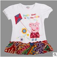 Hot Sale 2014 new peppg pig  Dress Summer Dress For Girl Hot Princess Dresses Brand Girls Dress Children Clothing Kids Wear A05