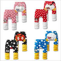 2014 Autumn Winter New Arrival Cute Cartoon Warm Fleece Baby PP Pants 3pcs/lot Wholesale