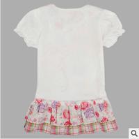 Hot Sale 2014 new peppg pig  Dress Summer Dress For Girl Hot Princess Dresses Brand Girls Dress Children Clothing Kids Wear A04