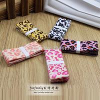 needlework 2.5CM/25MM fashion printing DIY hair accessories handmade cloth leopard ribbons rib belt sewing accessory hair ribbon