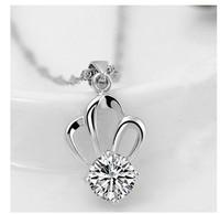 Fashion Do not fade austrian crystal jewelry women Crown zircon angel Pendant necklace