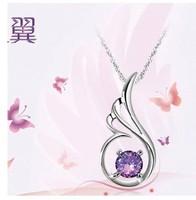 Fashion Do not fade jewelry women Crown zircon crystal angel Pendant necklace