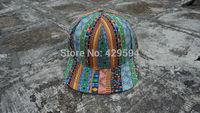 Wholesale custom 6 panel aztec pattern high quality blank snapback cap