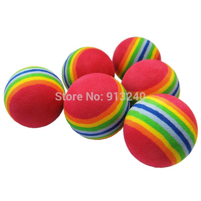 1000 pieces rainbow golf balls for training(China (Mainland))