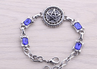 Free Shipping Black Butler metal Bracelet Anime Hand Chain Cosplay crystal star