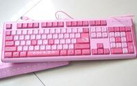 Hello Kitty pink cartoon usb computer gaming keyboard for girl free shipping