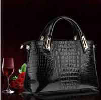 New 2014 Women Handbag Fashion Crocodile Pattern Women's Shoulder Bag Messenger Bags Women Leather Handbags H0618