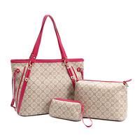 2014 fashion print bags color block picture package large waterproof cross-body handbag